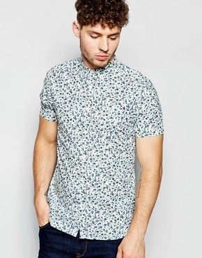 Brave Soul Small Floral Short Sleeve Shirt