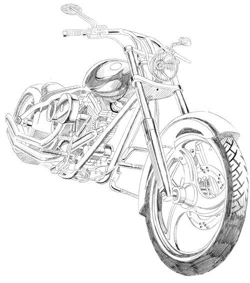 Desenho De Moto Desenhos A Lapis Desenho Moto Tatuagens De Moto