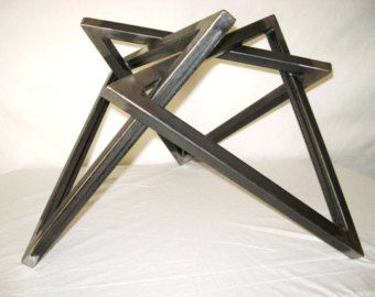 Modern Coffee Table Base 1 X By Hurtsmetalworks On Etsy