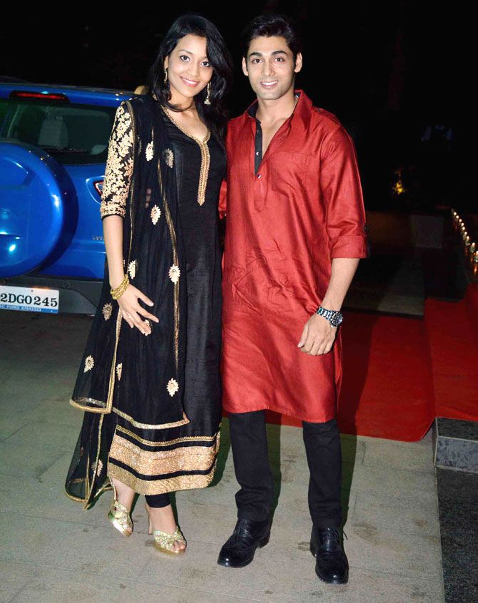 Ruslaan Mumtaz and Nirali Mehta at Ashish Chowdhry's #Diwali bash. #Bollywood #Fashion #Style #Beauty #Desi