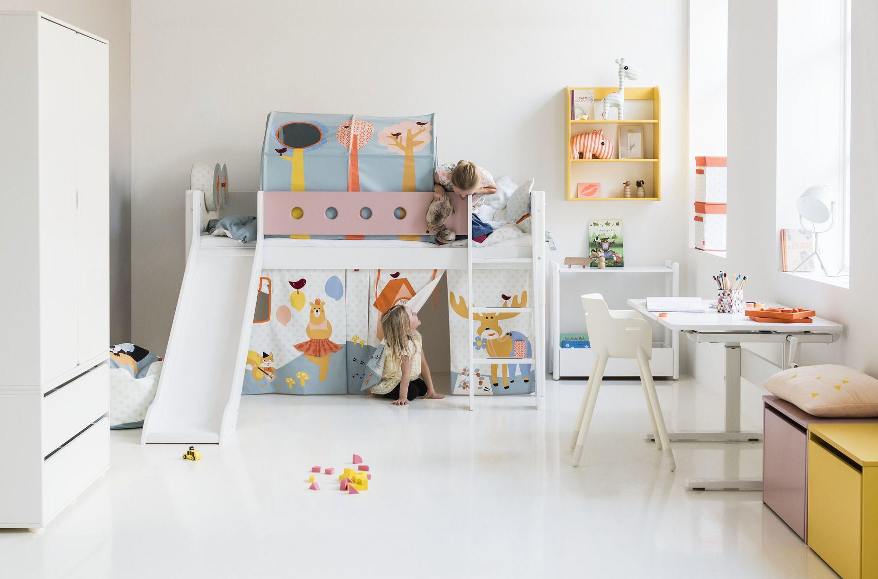 Flexa white halfhoogslaper bosdieren ideas childrens rooms