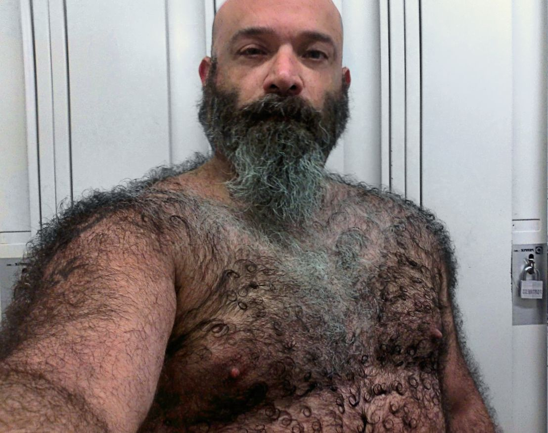 Very hairy mature men