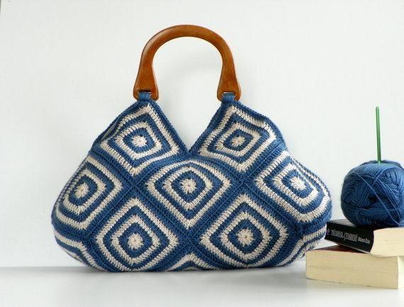 bolsa de crochê , inspiração