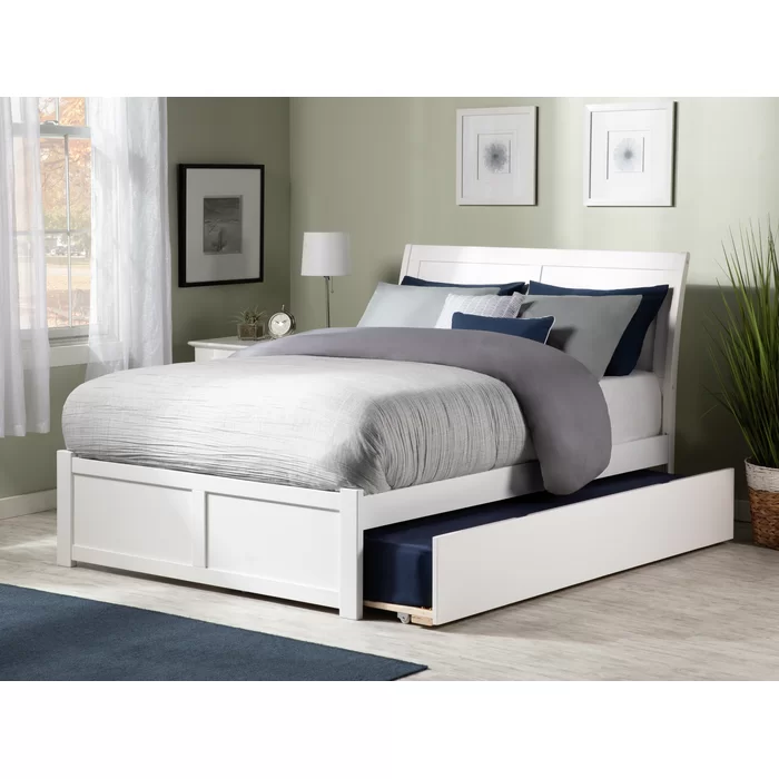 Wasilewski Sleigh Bed with Trundle in 2020 Bed with