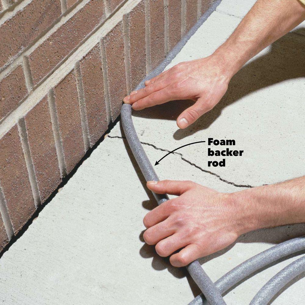Caulking Concrete Cracks Diy Home Repair Home Improvement Projects Home Improvement