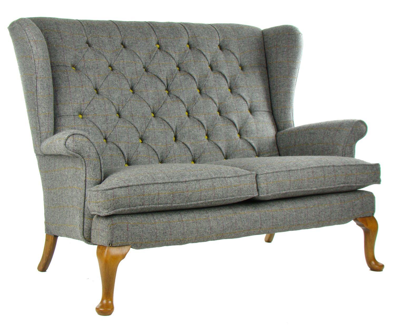 Vintage Parker Knoll Sofa Harris Tweed Wool By Justinadesign On Etsy Https Www