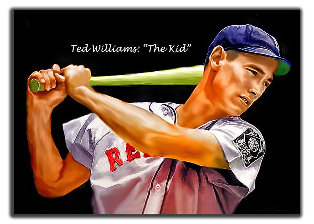 Aceo ted williams ( the kid ) brs 13/20 art sketch card limited ...