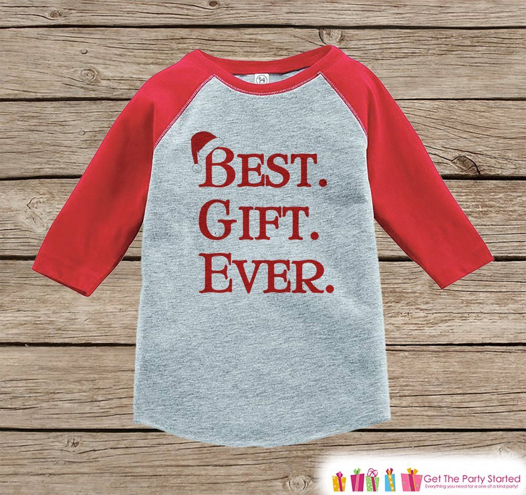Kids Christmas Outfit Best Gift Ever Christmas Shirt Or Onepiece