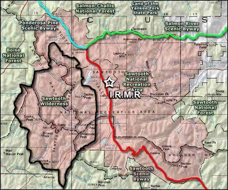 Idaho Rocky Mountain Ranch with hot springs, horseback ... on ketchum idaho road map, meridian idaho road map, big wood river idaho road map, boise idaho road map, warm lake idaho road map, ada county idaho road map, mccall idaho road map,