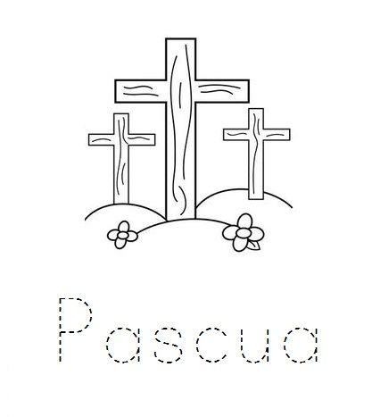 Colorear Dibujos Pascua Infantil Pascua Cristiana Felices Pascuas Pascua