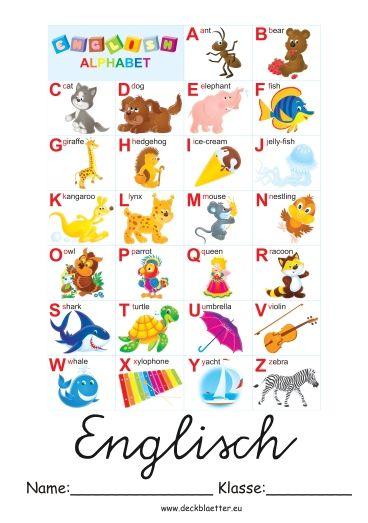 Deckblatt Englisch Grundschule Englisch Englisch Grundschule