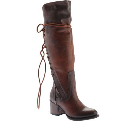 Women's FREEBIRD by Steven Cosmo Knee High Boot - Cognac Leather with FREE Shipping & Exchanges. Up your style game with the FREEBIRD by Steven Cosmo Knee High Boot. The back lace detail adds extra