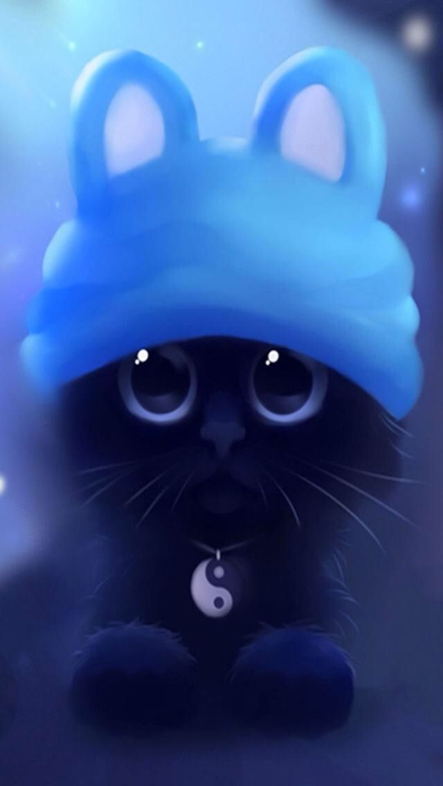 Awe Paint Pinterest Cats Cat Art And Cute Anime Cat