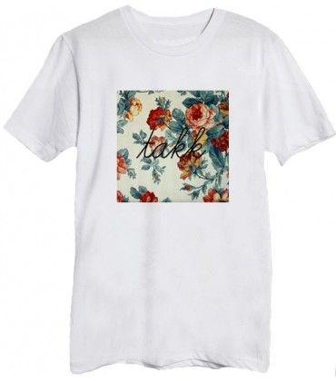 "T-shirt mixte fleuri ""Red Flower"""