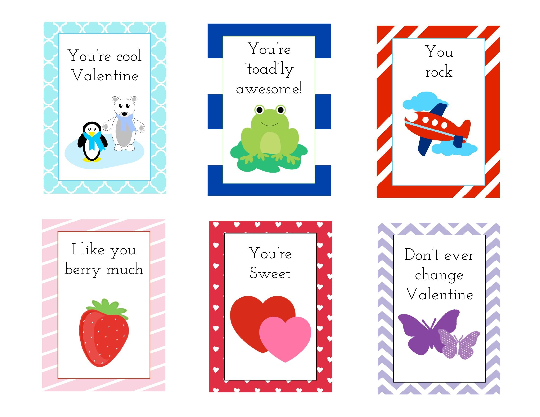 Free printable kids valentines card – Boy Valentine Cards