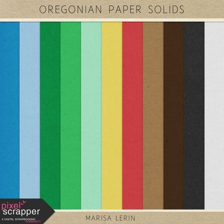 Oregonian Papers Kit - Solids | digital scrapbooking | woods, outdoors, manly, printable, project life, pocket scrapping