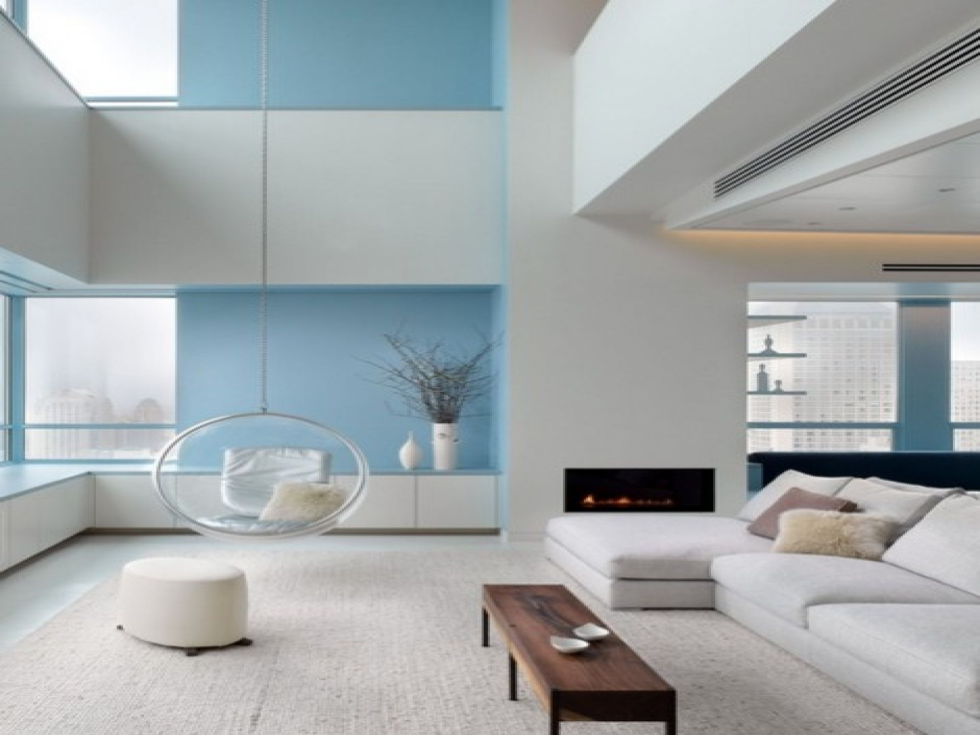blue and white living room decorating ideas – modern house