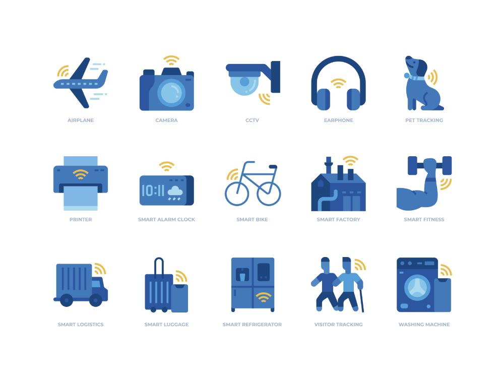 Internet Of Things Icons Set Icon Set Icon Icon Set Design
