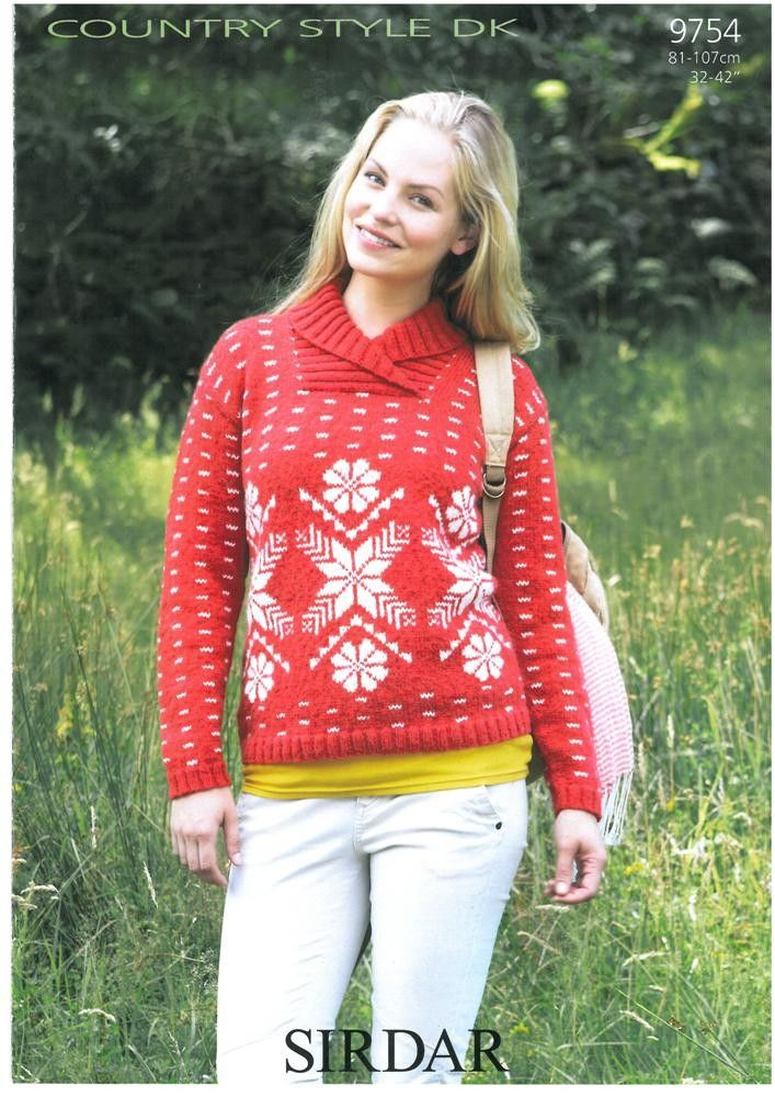 Snowflake Sweater In Sirdar Country Style Dk F For Fair Isle