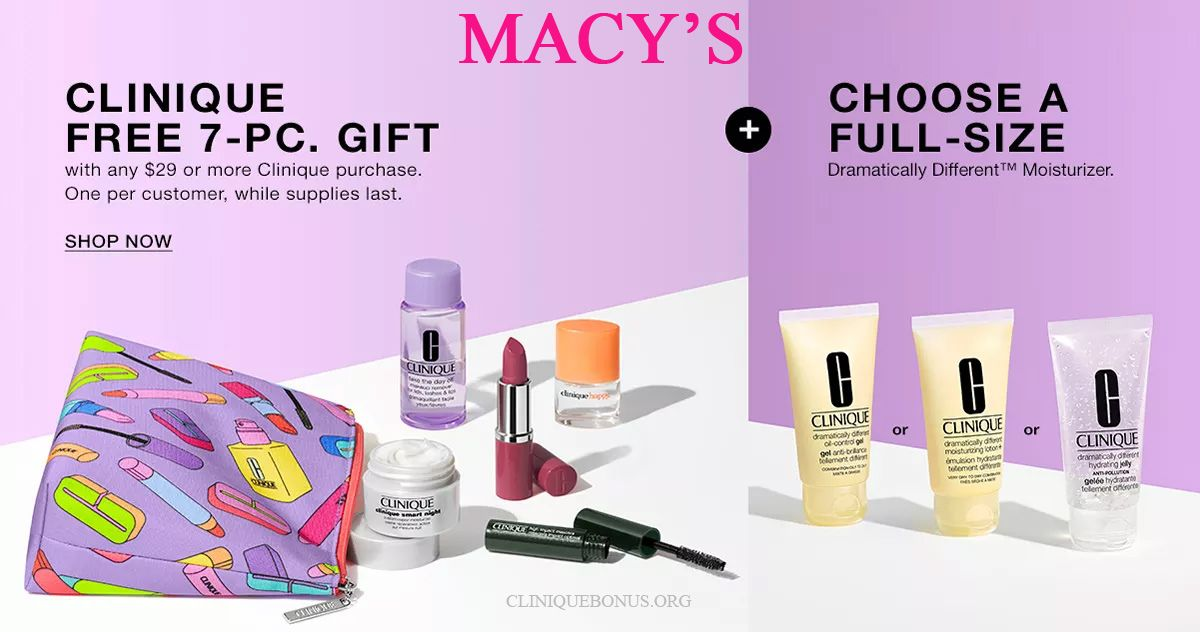 Spend 29 To Get Clinique Bonus Clinique Free Gift Clinique
