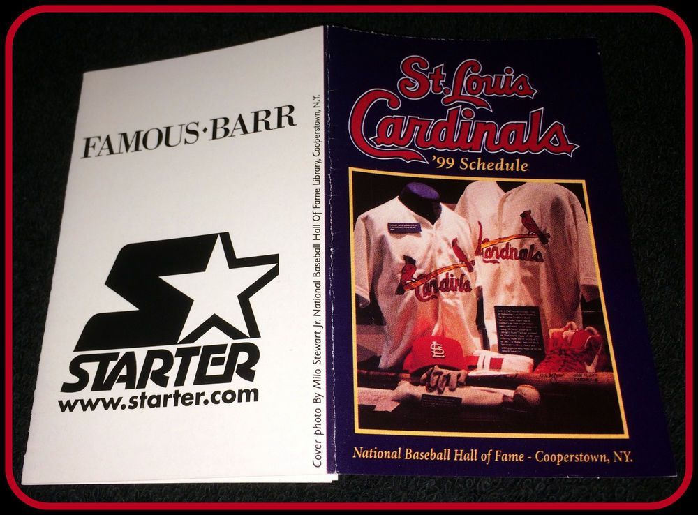 1999 ST LOUIS CARDINALS STARTER HALL OF FAME BASEBALL
