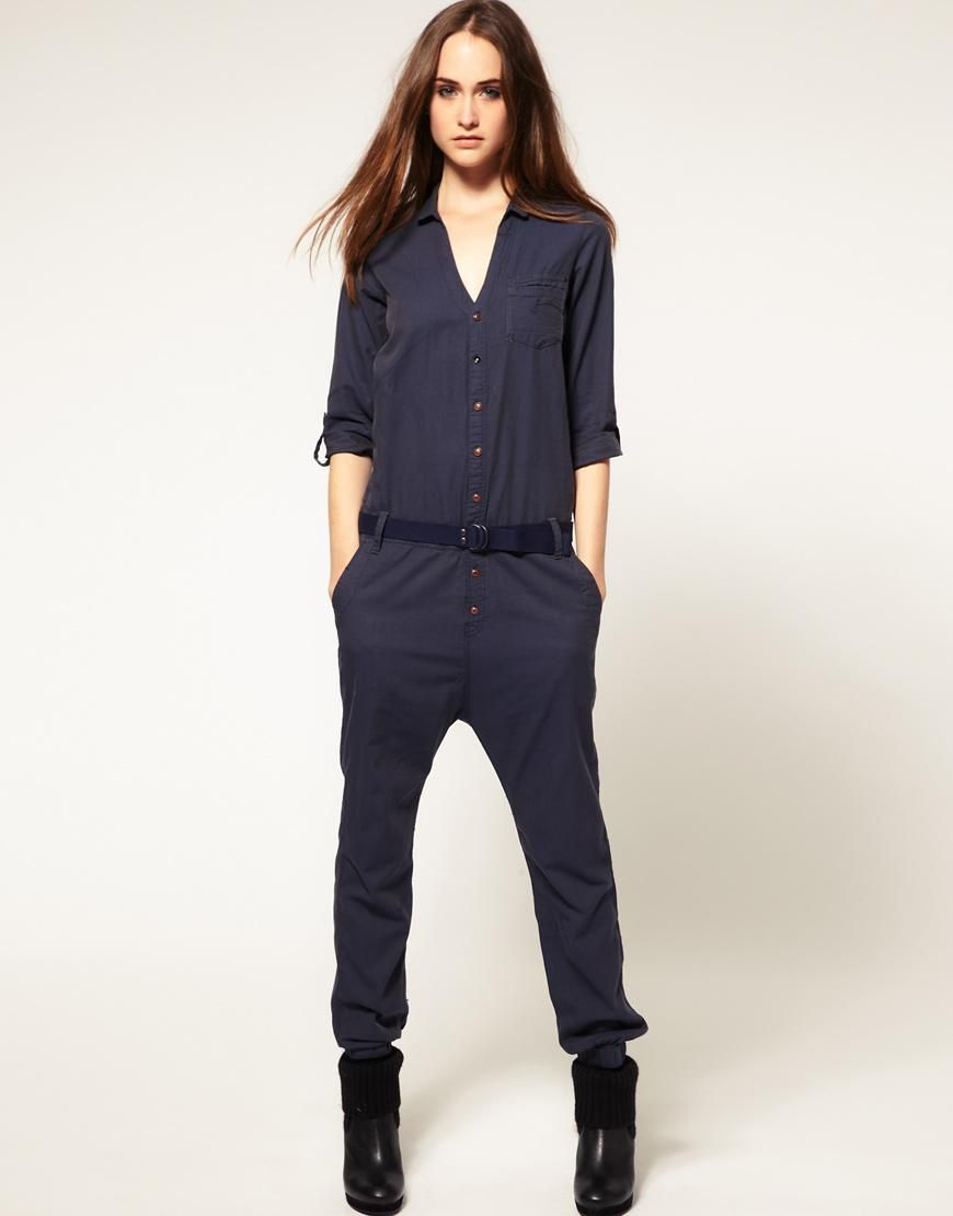 54c608c7412ba G-Star   G Star Belted All In One Jumpsuit at ASOS   Wardrobe ...