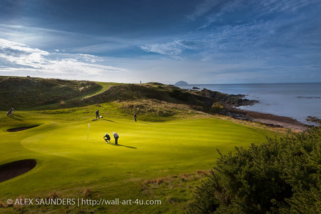 Trump Turnberry links, a seascape golf course. The 8th is Kintyre\'s ...