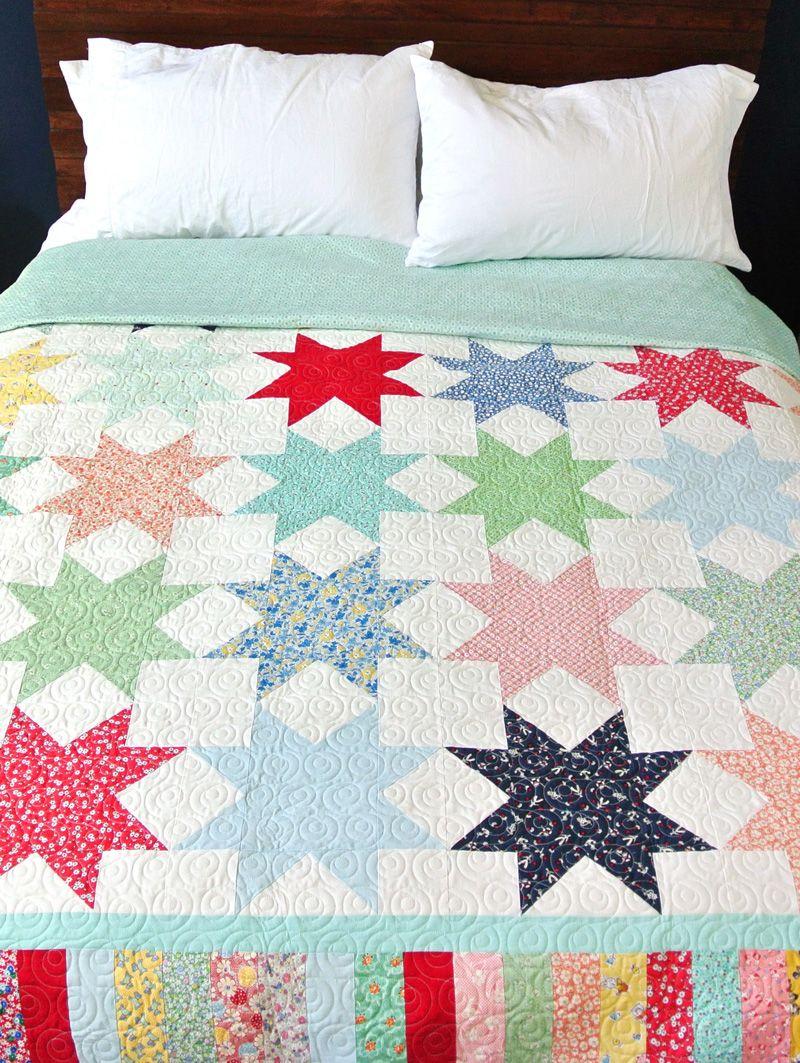 Reverse Sawtooth Star Quilt Pattern | Decken, Blau und Nähen