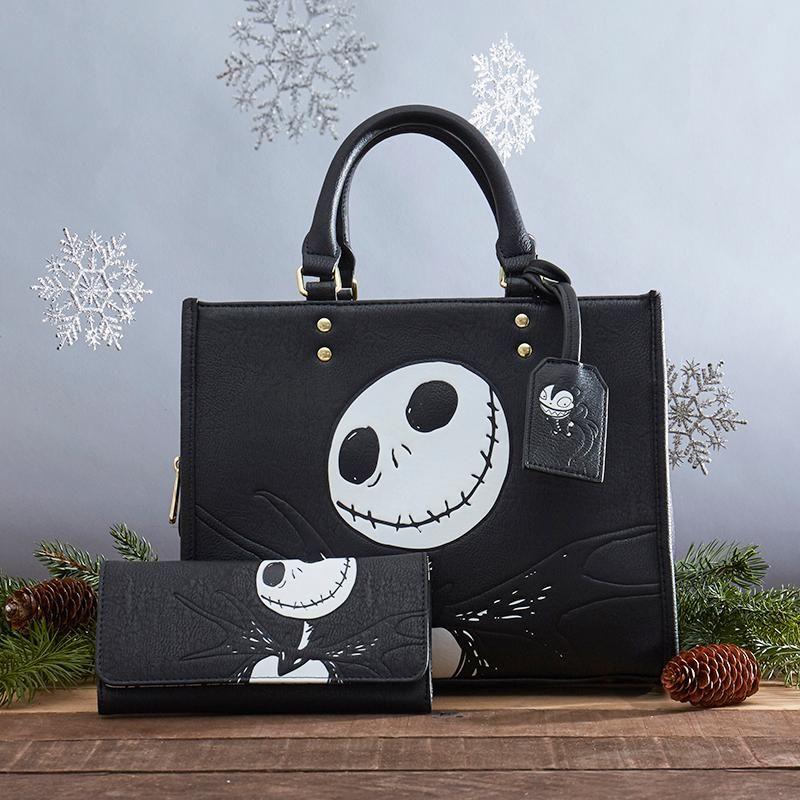 Nightmare Before Christmas Jack and Sally Mini Tote Bag