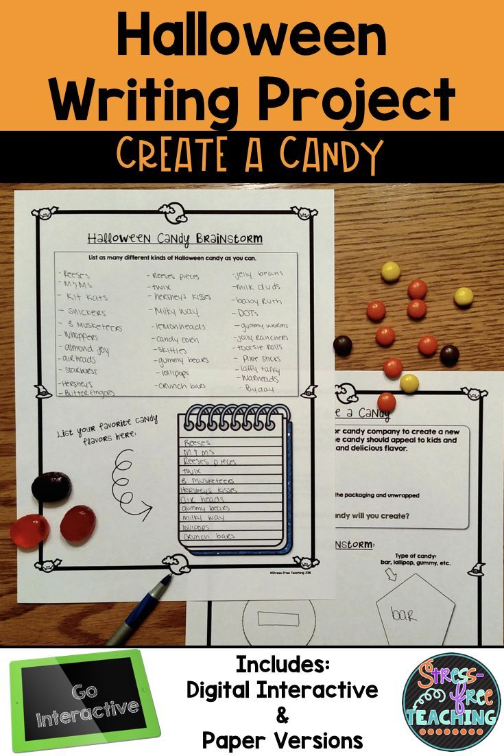 halloween creative writing Get creative with this halloween writing exercise your child will write a brief paragraph on the topic provided think scary thoughts.