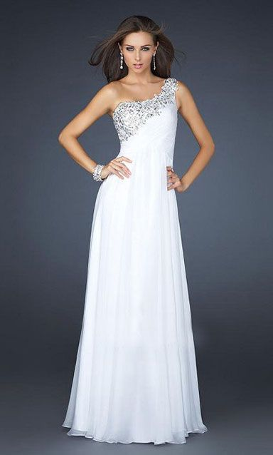long prom dress. Oh why do you have to be white   873551039b0a
