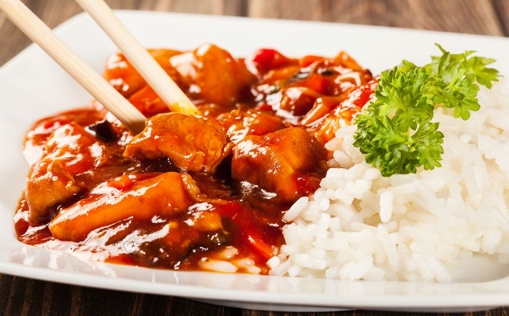 Photo of Today a tender chicken is on the menu with sweet and sour sau …