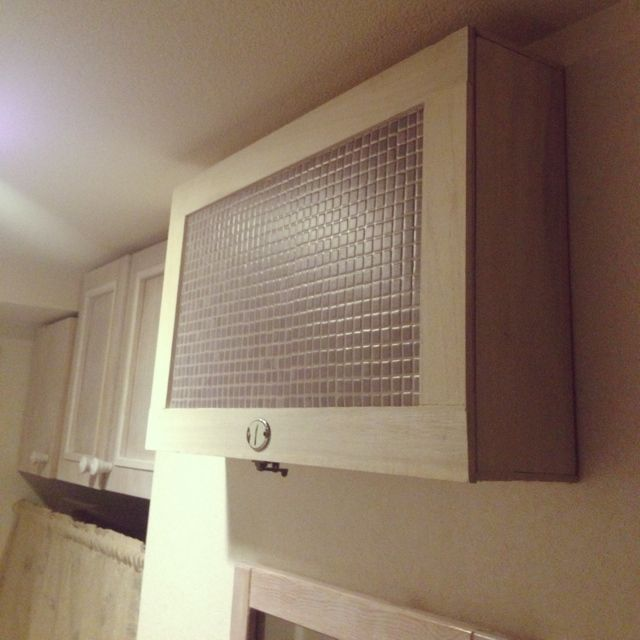 壁 天井 Diy タイル柄クッションフロア ブレーカーカバーのインテリア