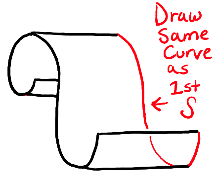 How To Draw Paper Curls Or Curled Paper Scrolls Or Banners In Easy Steps Tutorial How To Draw Step By Step Drawing Tutorials How To Draw Steps Step By Step