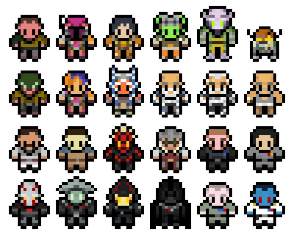 Pixel Star Wars Rebels Sprites By Mudkat101deviantartcom On
