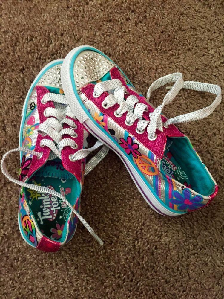Girls size 3 skechers twinkle toes size girls skechers