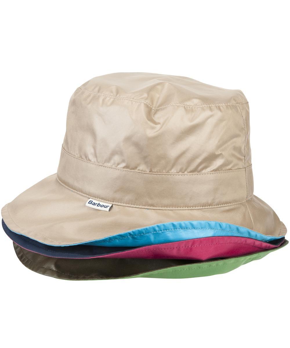 Womens Barbour Reversible Pull on Rain Hat - Stone  be26513d3de