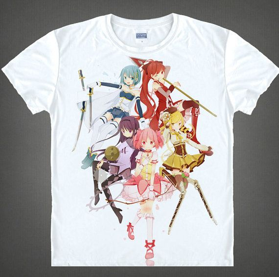 New Japanese Anime T-shirt Puella Magi Madoka Magica Milk