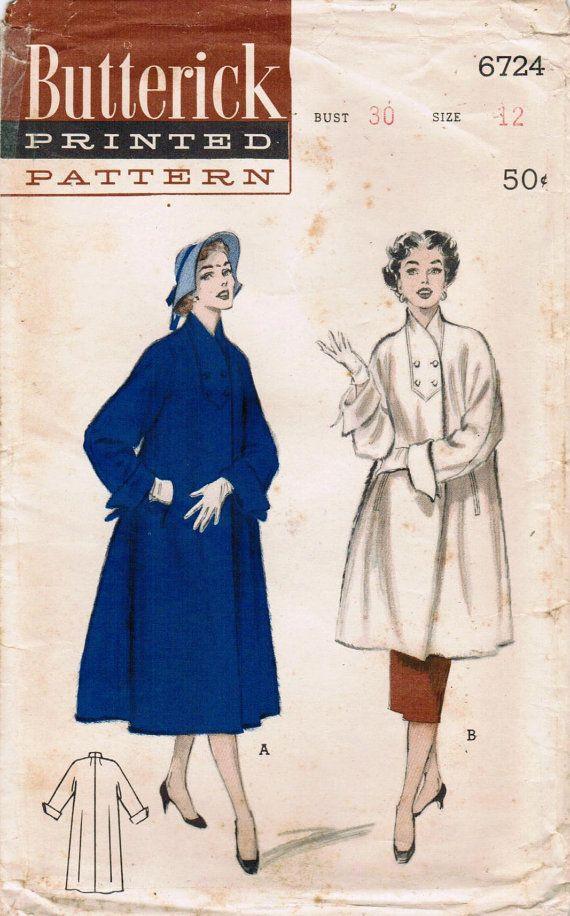 1950s Butterick 6724 | retro | Pinterest | Diy nähen, Inspiration ...