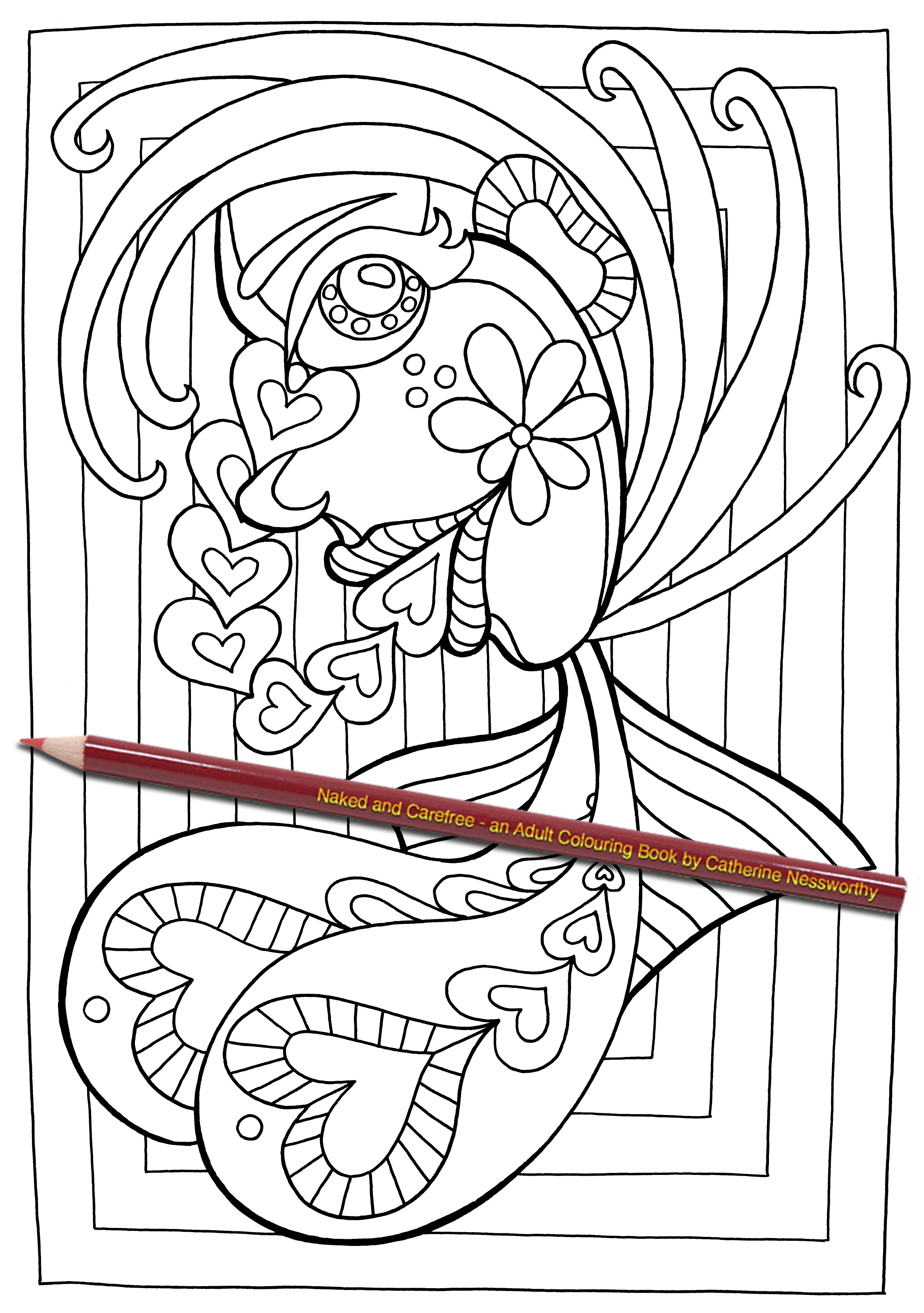 Naked and Carefree - an Adult Colouring book by Catherine ...