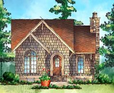 Itty Bitty Cottage House Plan - 26673GG | 1st Floor Master Suite, CAD Available, Cottage, Loft, Narrow Lot, PDF, Vacation | Architectural Designs