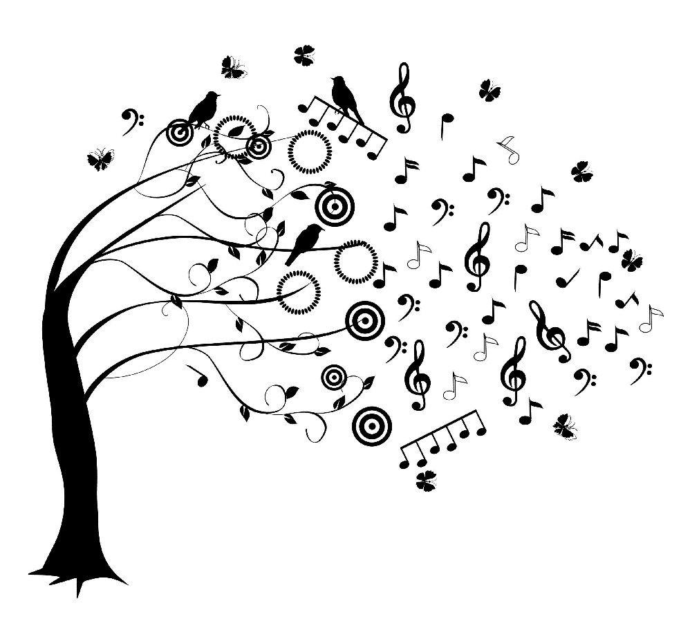 Arbre De Musique Muzieknoten Muziek Muziekinstrumenten