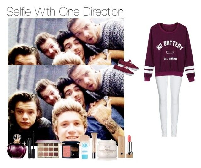 """Selfie With One Direction"" by onedirection1d22 ❤ liked on Polyvore featuring Marc Jacobs, Fresh, Christian Dior, Maybelline, tarte, Burberry, Smashbox, WithChic and Vans"