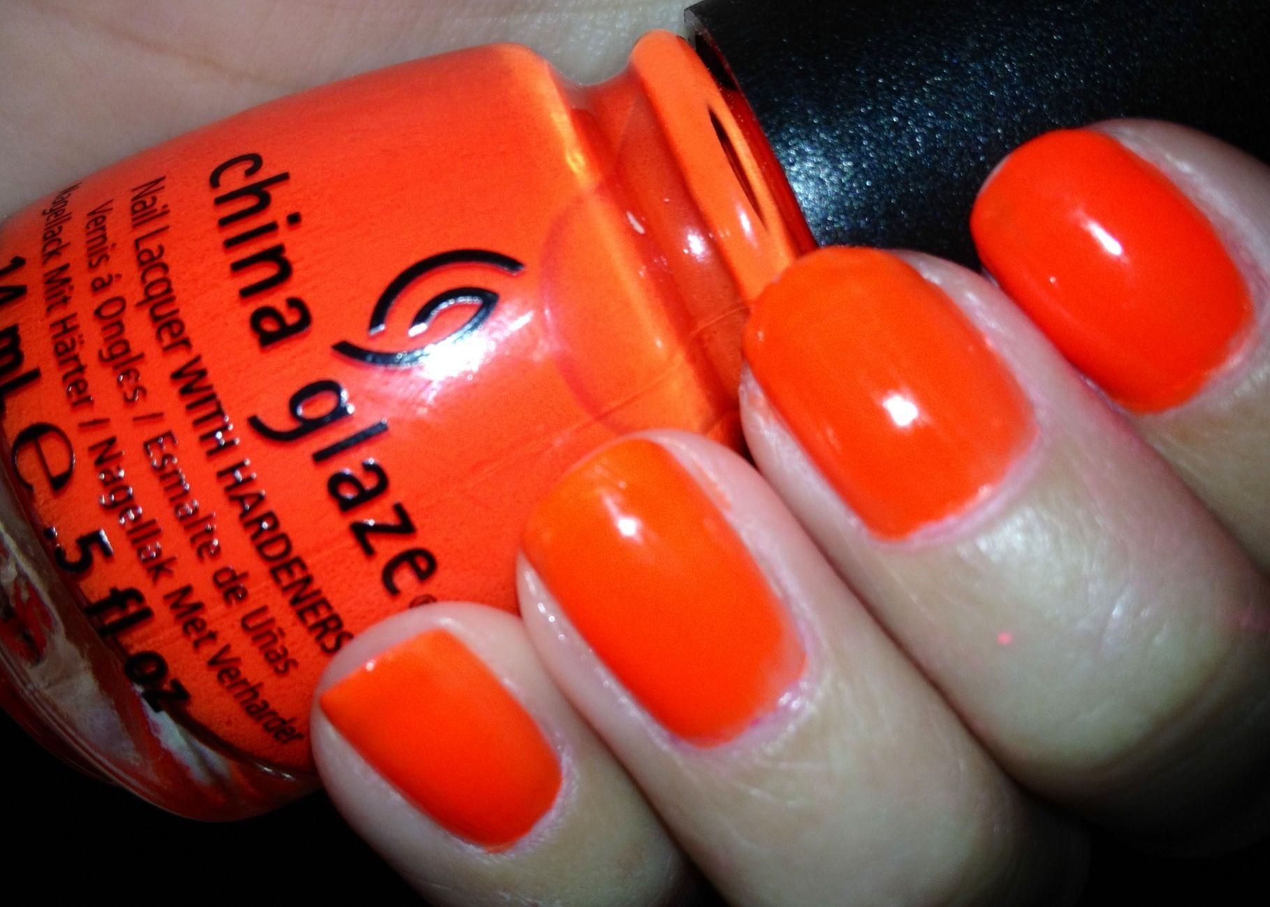 China glaze- orange knockout (neon) | Eyes, nails and hair ...