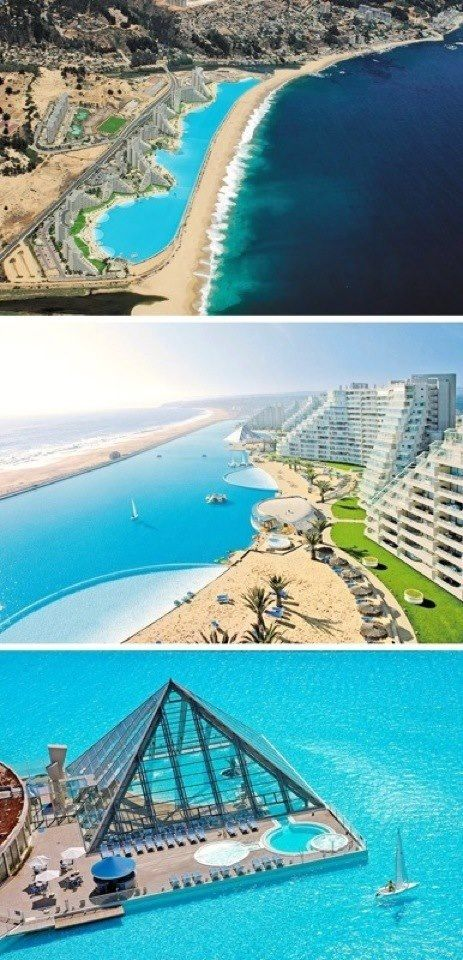crystal lagoon chile the biggest pool in the world oh my gosh