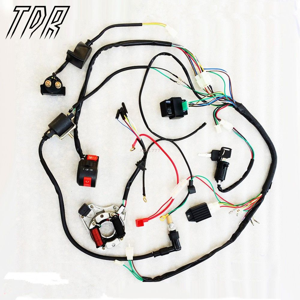 TDR Motorcycles Accessories Complete Electrics for ATV QUAD 50/70/110/125cc  ,coil,cdi harness Wiring Harn A2 | Motorcycle Accessories & Parts |  Pinterest ...