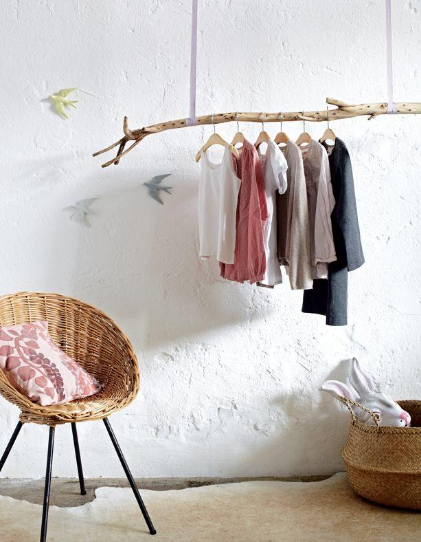 diy un porte manteau branche d 39 arbre d cormag cr er. Black Bedroom Furniture Sets. Home Design Ideas