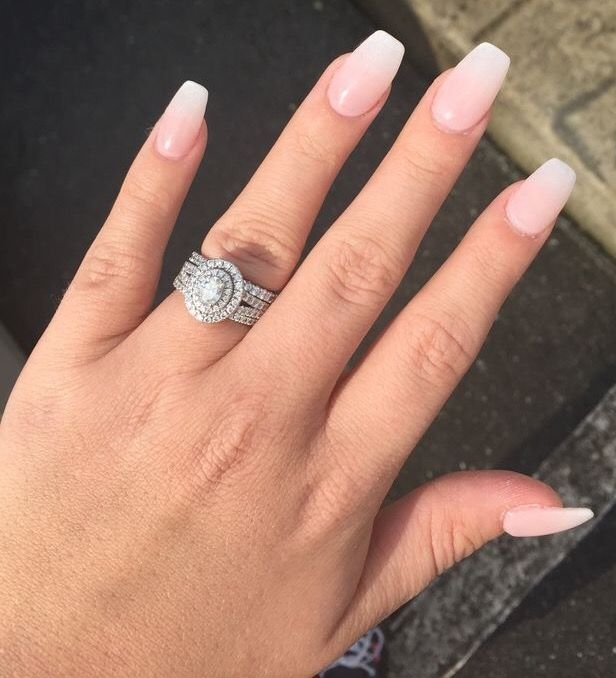 Pin Van Brittany Baird Op Nails Nagels Korte Acrylnagels French Fade Nails