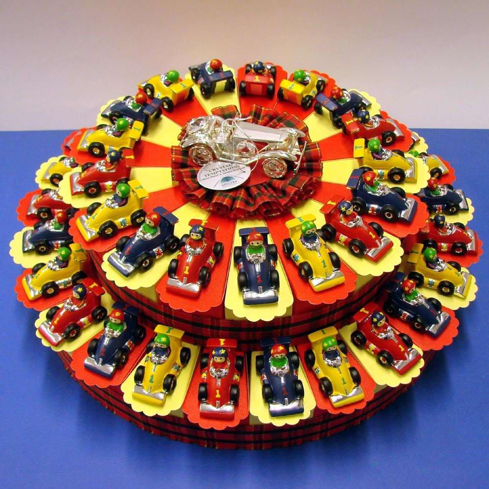 Race Car Centerpiece That Doubles As Party Favors I Love Using Take