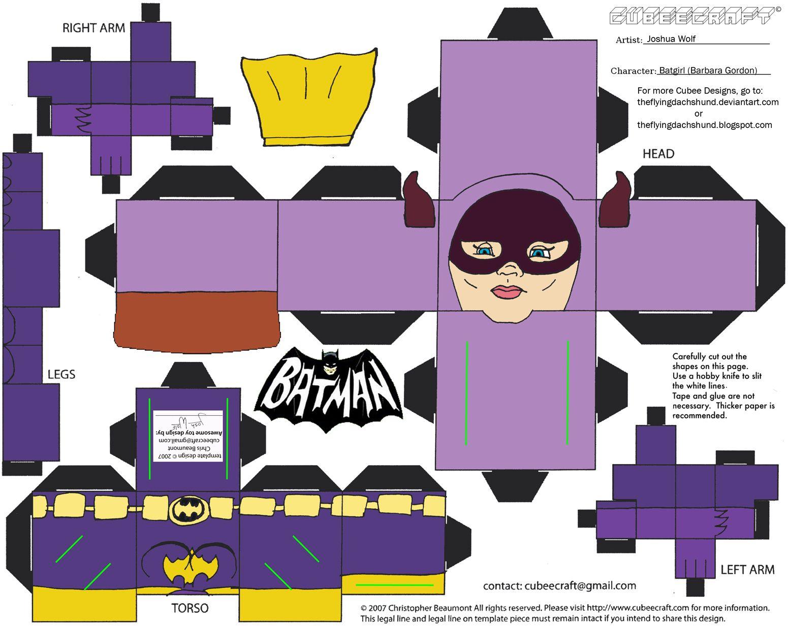 60sbat1 Batgirl Cubee By Theflyingdachshundviantart On Deviantart
